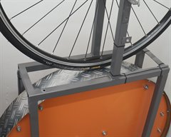 Continental Grand Prix SuperSonic road bike tire on a rolling resistance test machine