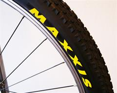 Maxxis Ikon eXCeption Silkworm  mountain bike tire on a rolling resistance test machine