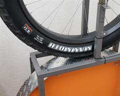 Maxxis Mammoth fat bike tire on a rolling resistance test machine