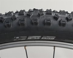 Schwalbe Hans Dampf TrailStar  mountain bike tire on a rolling resistance test machine