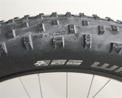 Schwalbe Jumbo Jim SnakeSkin  fat bike tire on a rolling resistance test machine